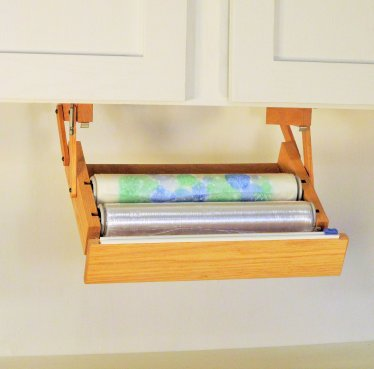 Under Cabinet Mounted Plastic Wrap Dispenser