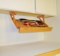 Under Cabinet Mounted Knife Rack
