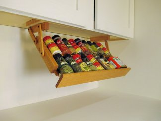 Under Cabinet Mounted Spice Rack