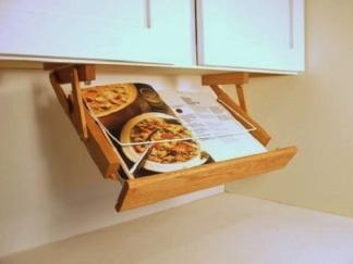 Under Cabinet Mounted Cookbook Holder