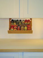 Under Cabinet Mounted MINI Spice Rack