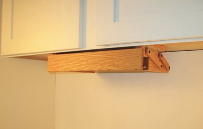 Spice Rack Closed Position. Easy to use, Brass latch closures