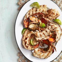 grilled-lobster-tails-nectarine-lime-sauce-recipe