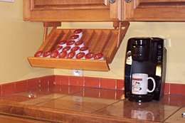 Under Cabinet Mounted Coffee Pod Holder