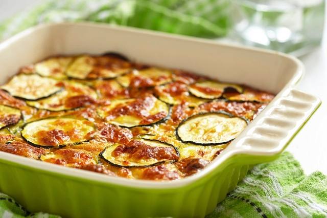 Roasted Zucchini and Tomato Gratin
